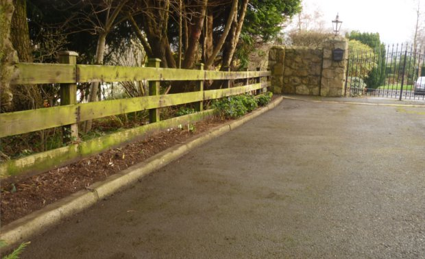 Winter flower border after clean up